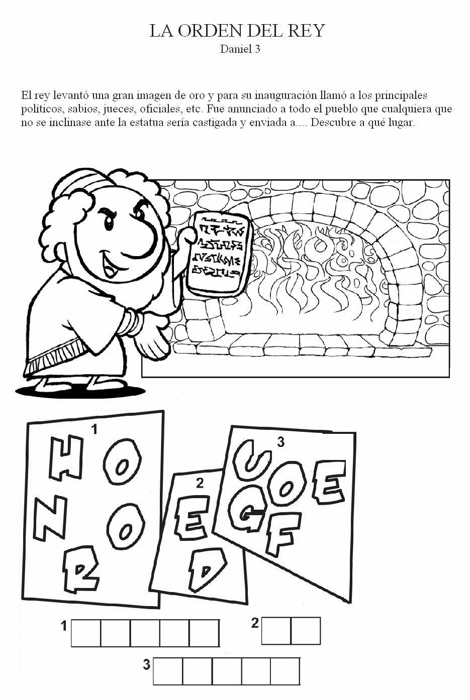 Imagenes Cristianas Para Colorear: Dibujos Para Colorear De Sadrac ...