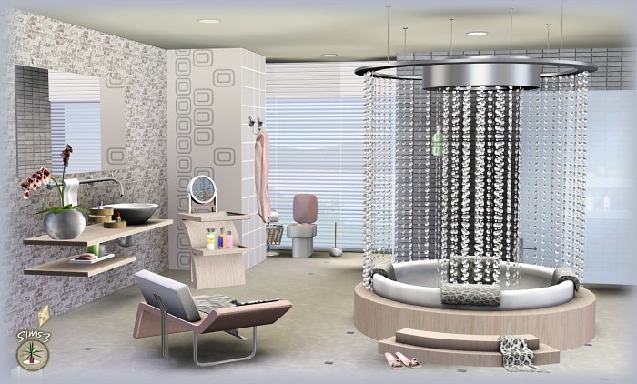 Latitude Bathroom Set And Accents By Simcredible Designs