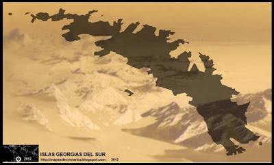 Mapa de ISLAS GEORGIAS DEL SUR Y SANDWICH DEL SUR