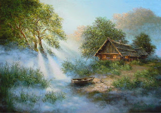 cuadros-paisajes-con-chozas