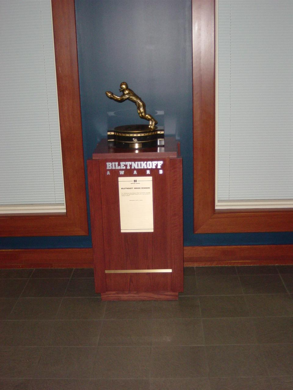 Biletnikoff Trophy Notre Dame