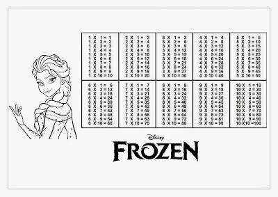 Tabuada para Imprimir Elsa