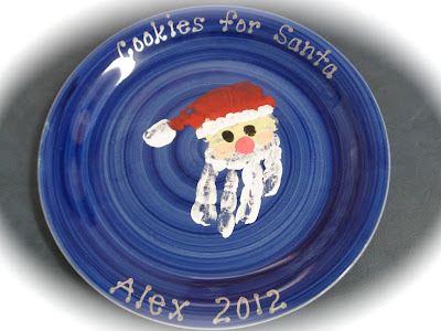 Photo of Handprint Santa plate