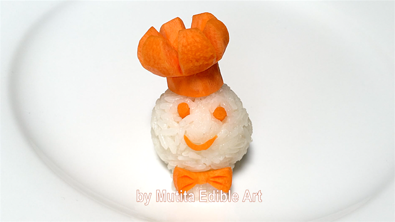Carrot chef hat art design sushi quick easy simple