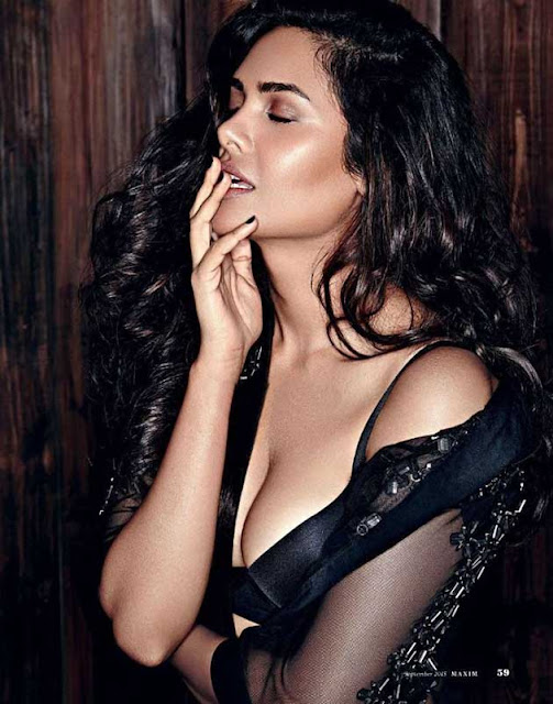 Bollywood Actress Esha Gupta Hot Maxim Expose Pics