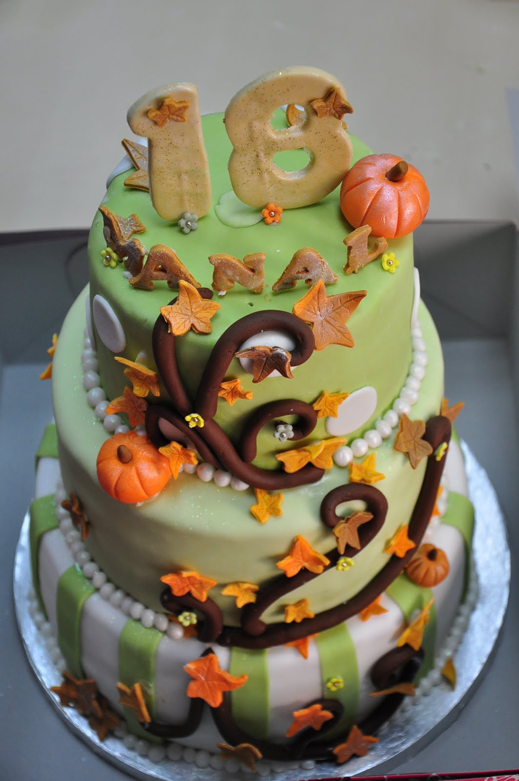 Reems Cake Boutique Autumn Themed Birthday Cake