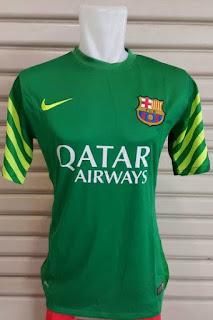 jual online Gambar jersey kiper Barcelona warna hijau terbaru musim 2015/2016 enkosa sport harga murah