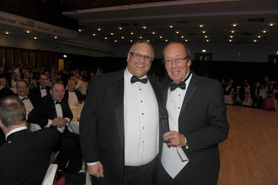 LED Lighting Manufacturers Sales Director Mark Major with Fred Dinenage MBE