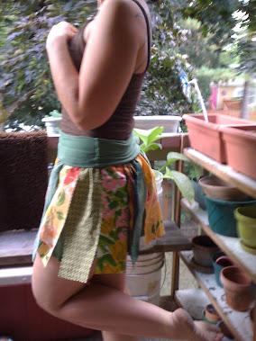 Another veiw of big girl scrappy tutu skirt