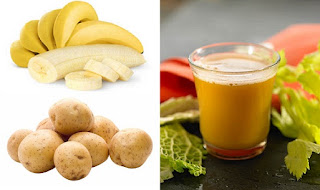 Banana and potato juice is healthy for ulcers