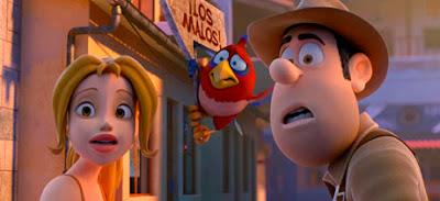 Tadeo Jones, Sara y Belzoni (¿quizá sacado de Angry Birds?)
