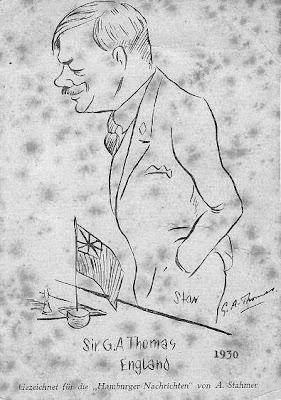 Caricatura de Sir George A. Thomas