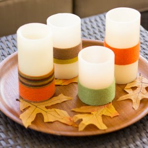 Fall Project: Yarn Wrapped Candles