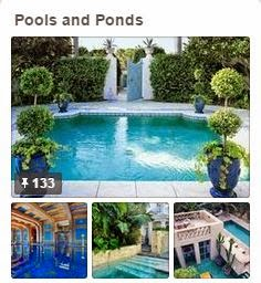 Inspiration for Pools and Ponds via Avente Tile's Pinterest Board