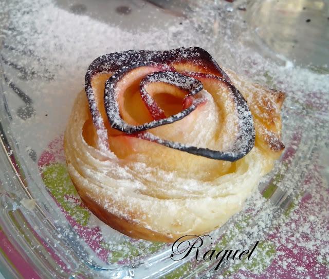 Rosas De Hojaldre Con Manzana Y Cabello De Angel