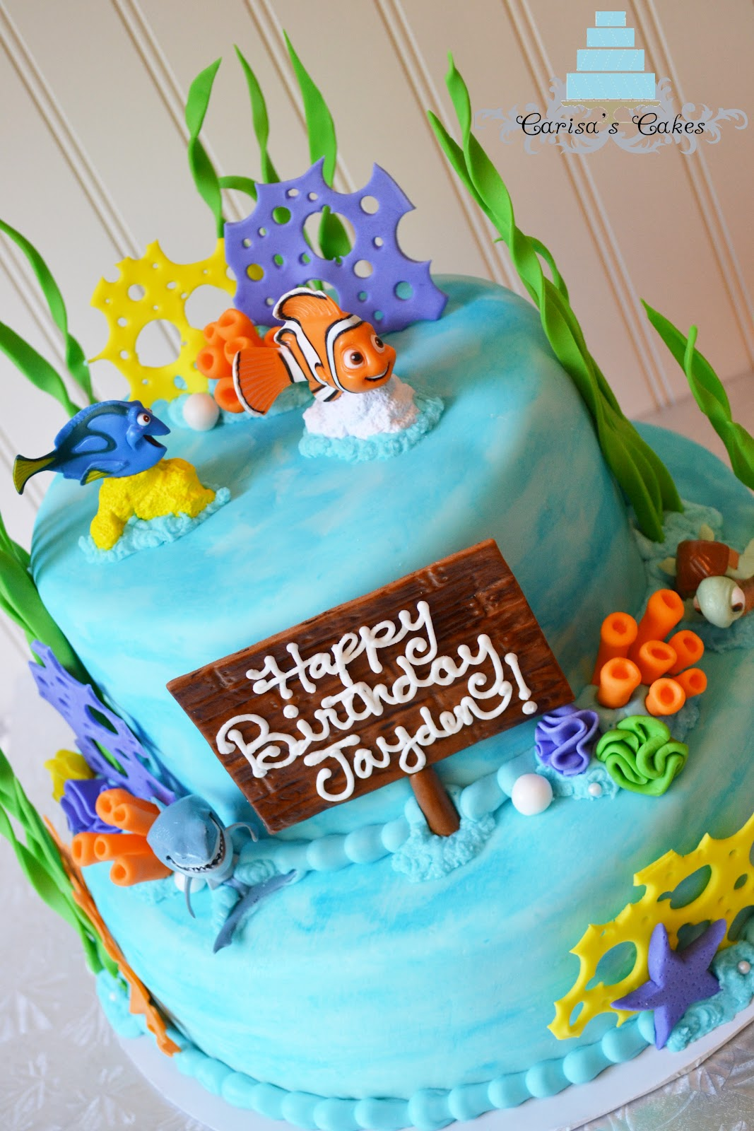 Carisas Cakes Two Tier Finding Nemo Cake
