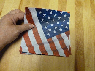 Patriotic paper napkin butterfly
