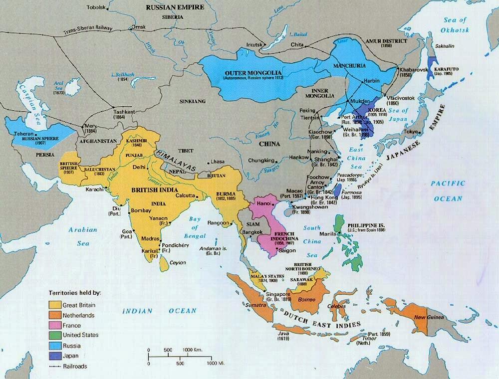 Sudeste Asiatico Mapa Sudeste Asi Tico Colonial c