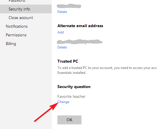 how to change youre google security questions