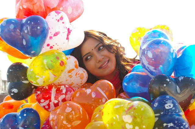 samantha with colorful balloons actress pics