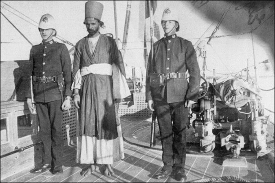 An Arab slave dealer in custody.