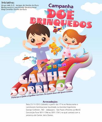 O Grupo AMIGO em parceria com  o Restaurante e Lanchonete Gentiourense realiza a primeira campanha de doação de brinquedos: