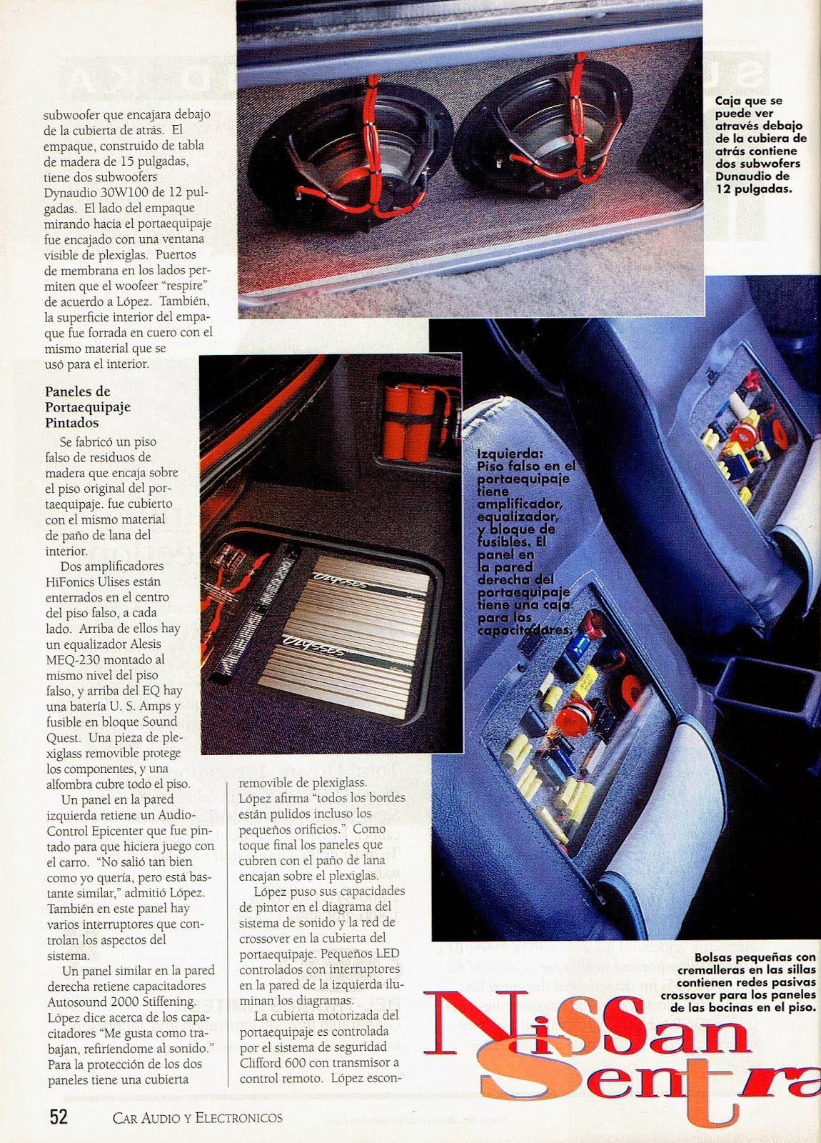 Image of Bajale al Boom Article - page 52 - Car Audio & Electronics Magazine Special Edition in Spanish