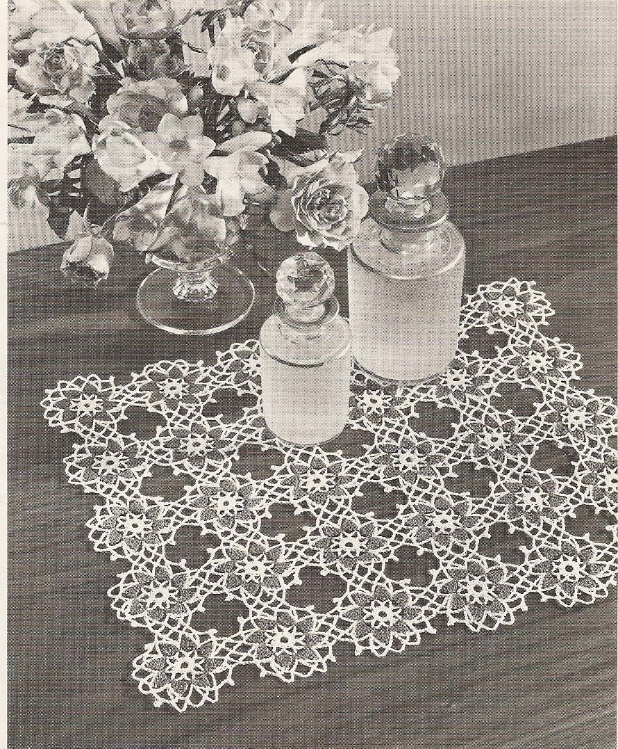 SQUARE CROCHET DOILY PATTERNS How To Crochet