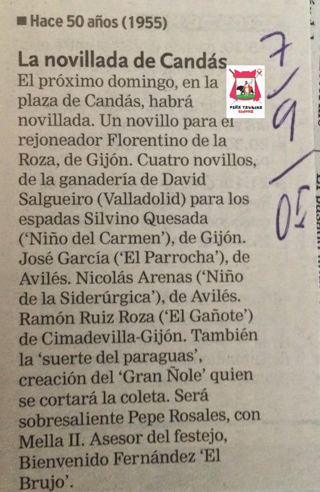 LA NOVILLADA DE CANDÁS