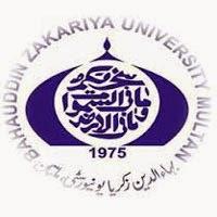 Bahauddin Zakariya University Multan MA Date Sheet 2016 Part 1, 2