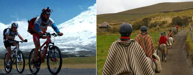 ecoturismo in Ecuador - cicloturismo ed equitazione nelle Ande