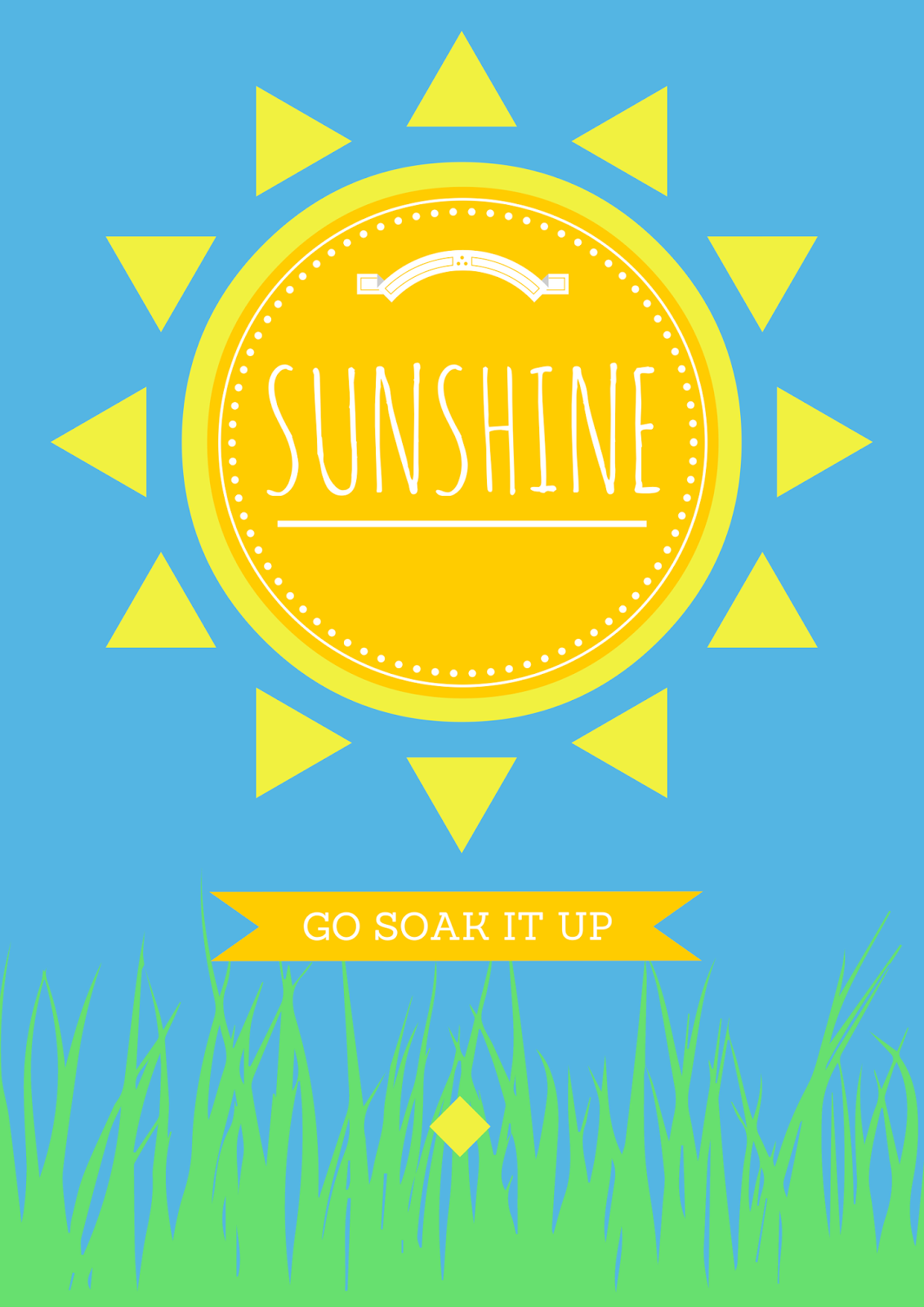 sun, soak up the sun, sunshine, poster, design
