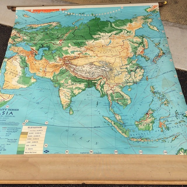 #thriftscorethursday Week 33 | Instagram user: mypassionfordecor shows off this School Map