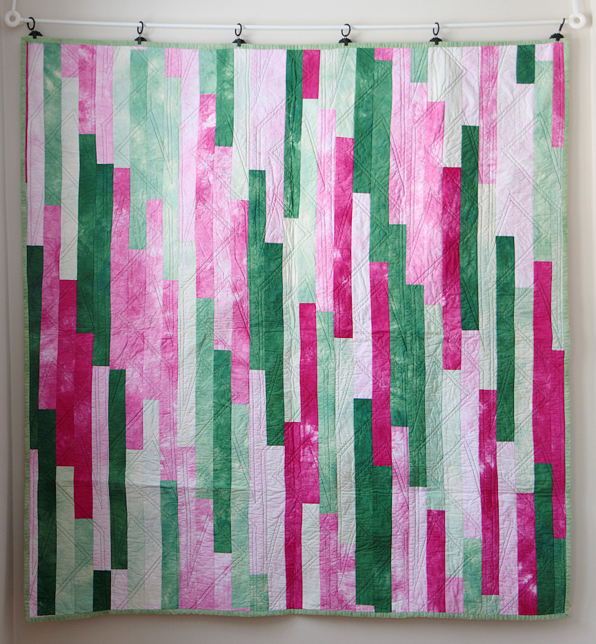 Quick Charity Quilts series--Jelly Roll 1600 or Lasagna quilt ... : jelly roll quilt size - Adamdwight.com