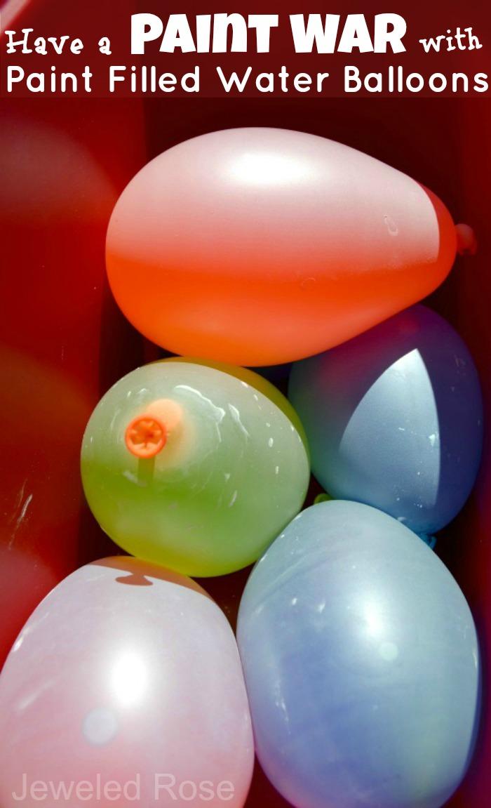Water Balloon Paint War