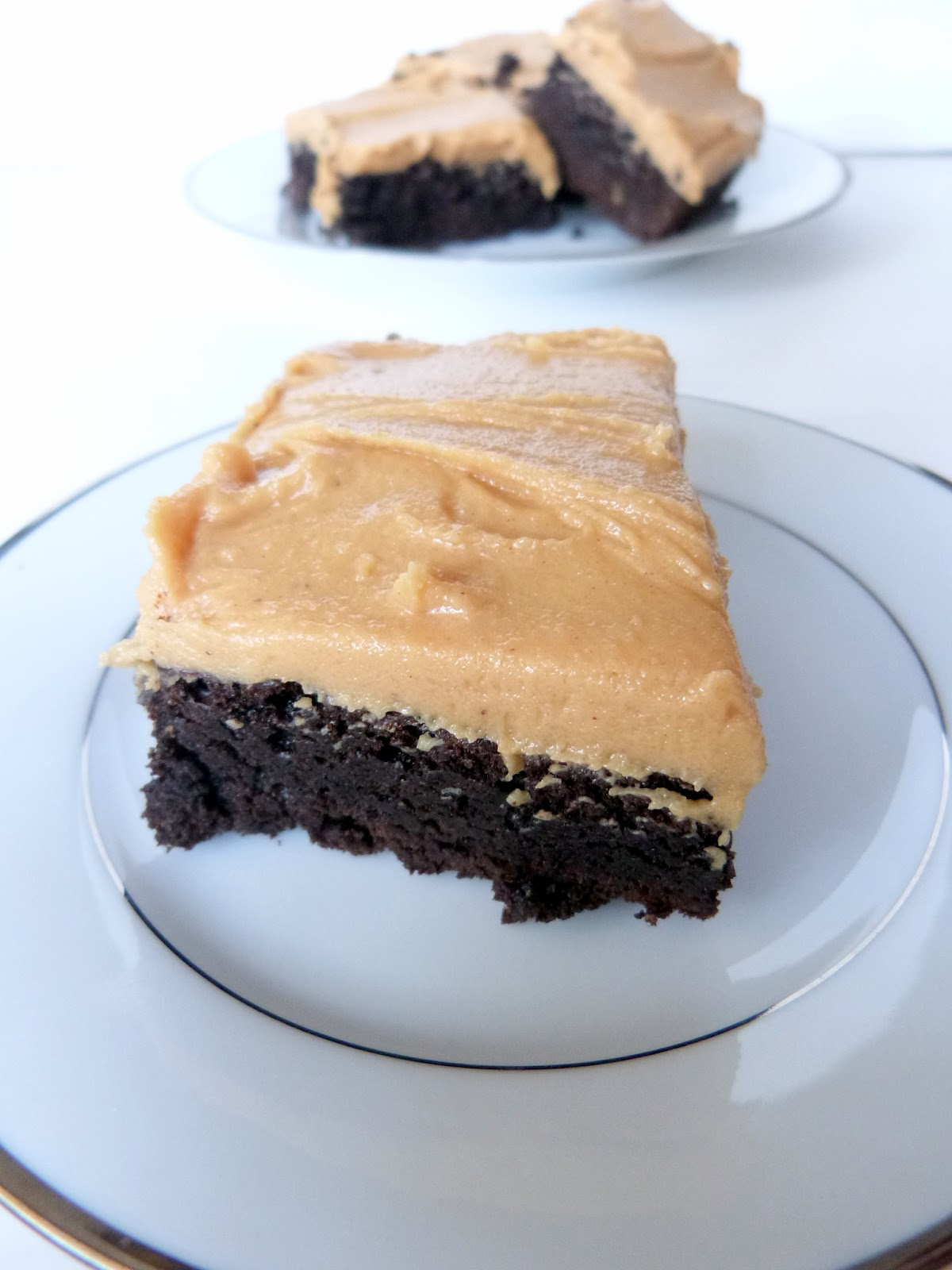 ... in the Kitchen: Dark Chocolate Brownies with Peanut Butter Frosting
