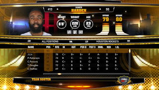 NBA 2K13 PC Custom Roster Harden to Houston Rockets