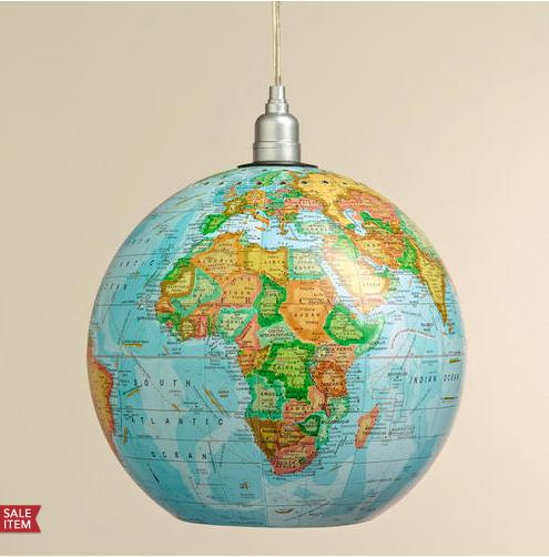 World Market globe hanging pendant
