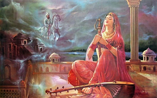 Rajasthani Girls Art Paintings 26