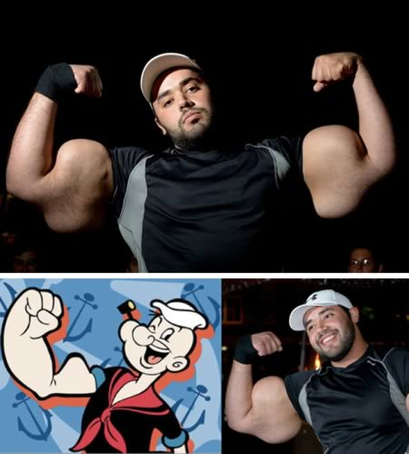 15 Orang yang Mirip Tokoh Kartun: Popeye