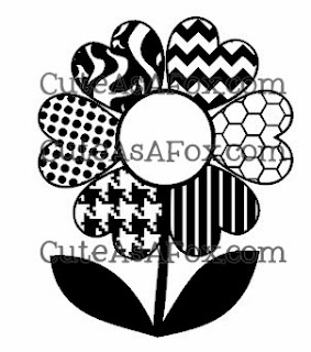 Heart Flower with Patterned Petals - free download