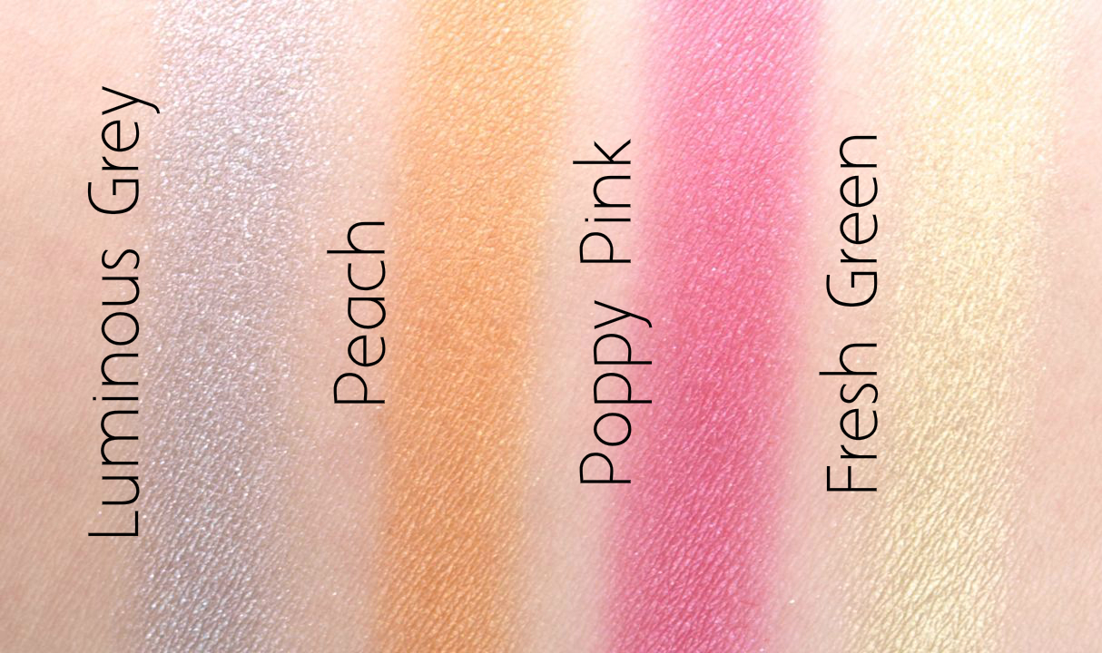 The Body Shop Pink Poppy Shimmer Cubes Palette: Review and Swatches