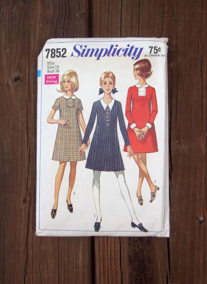 Simplicity pattern 7852, 1968