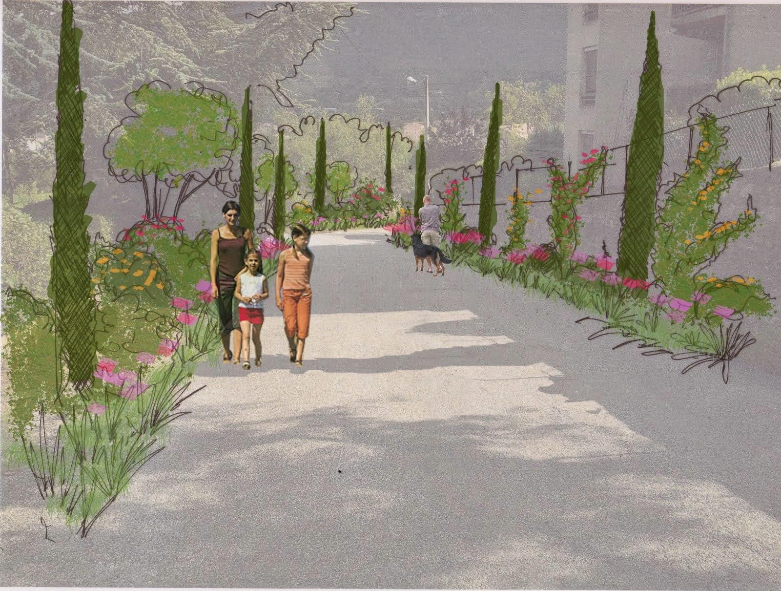Les images du projet de boulevard jardin