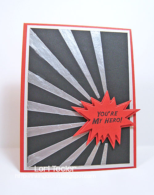 You're My Hero card--designed by Lori Tecler/Inking Aloud--stamps and dies from Clear and Simple Stamps