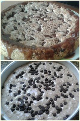 Bolo Diet de pão integral com passas em cacau e gotas de chocolate