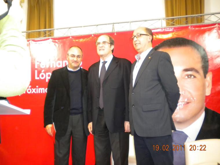 Foto con el Ministro de Educación, Angel Gabilondo