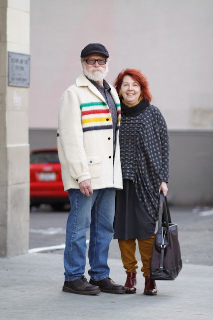 steve cremer judy blair hudson bay polka dot downtown seattle street style fashion it's my darlin'