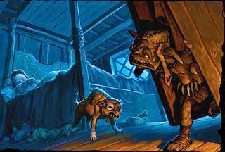 Huesos Sangrientos es una criatura que devora a los niños malcriados, se dice que puede aparecer debajo de las escaleras o dentro de los armarios.