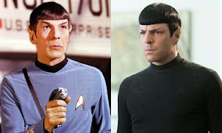 Star Trek Leonard Nimoy and Zachary Quinto